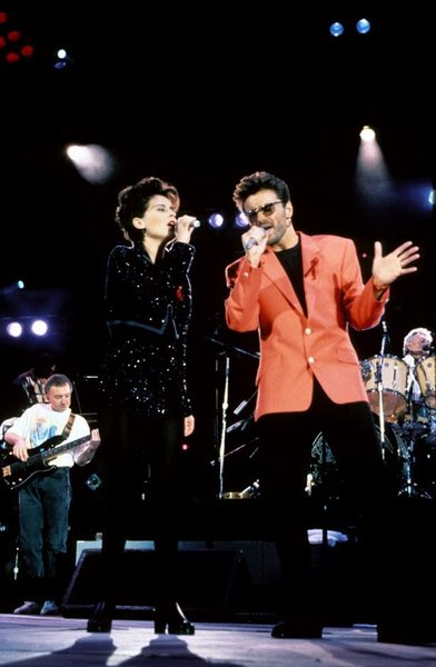 George Michael and Queen with Lisa Stansfield